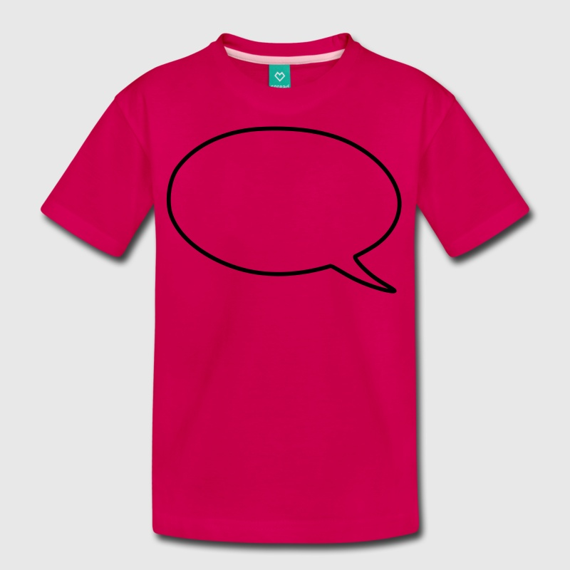 Speech bubble kids shirts kids premium t shirt