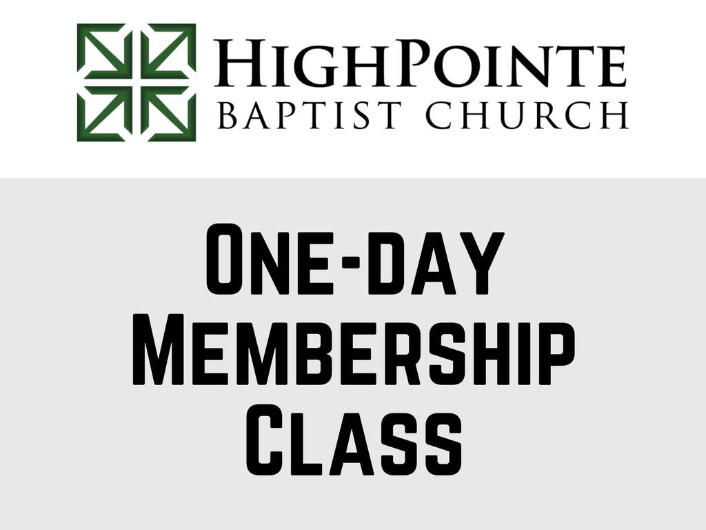 One day membership class  1