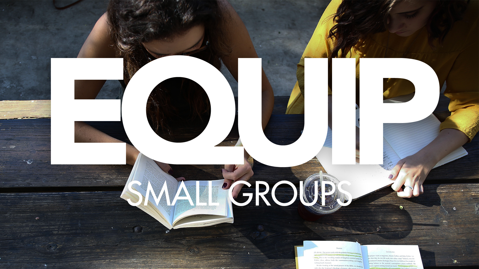 Equip small groups