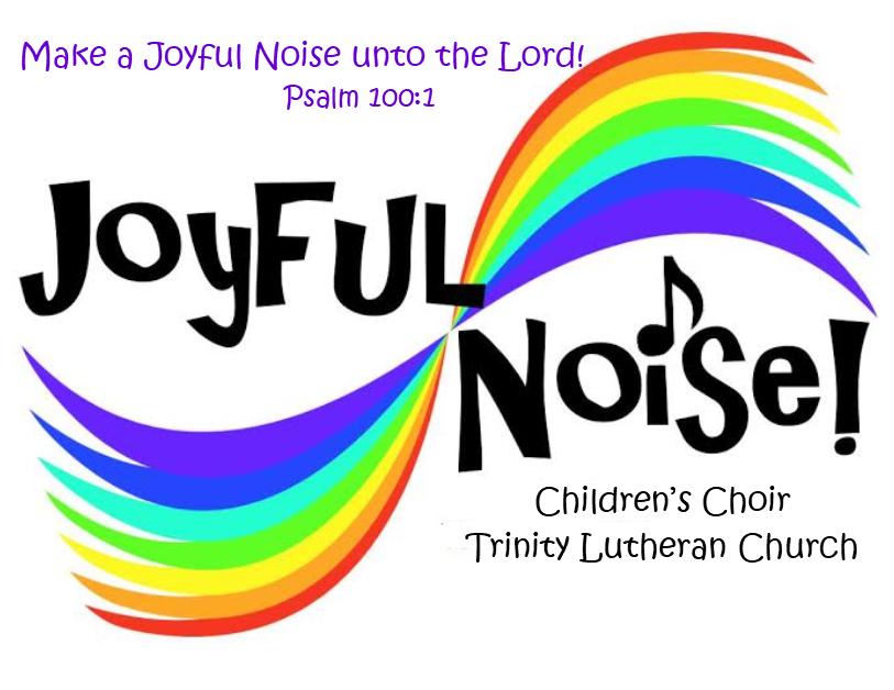 Joyful noise  logo with verse