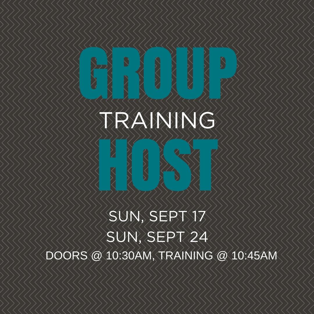 Group host training
