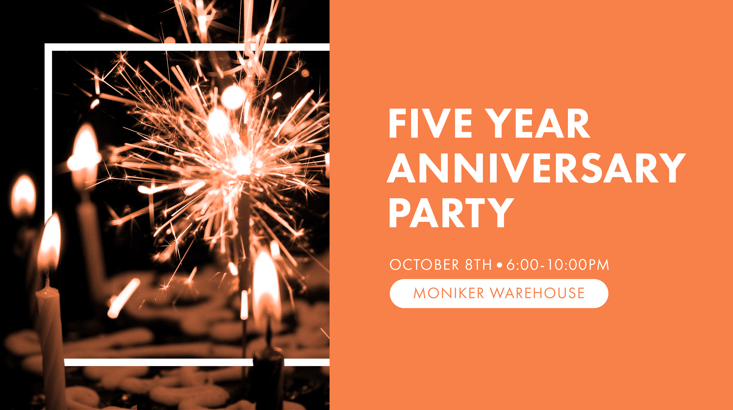 Five year anniversary party