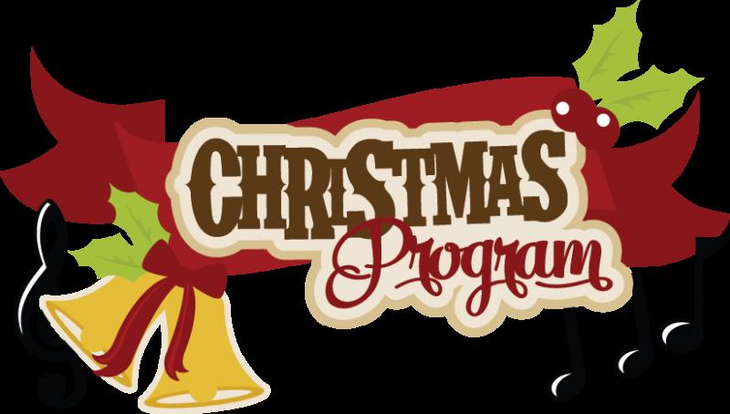 Large christmas program title