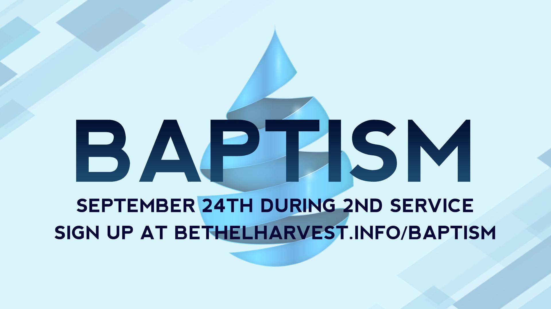 Baptism online sign up