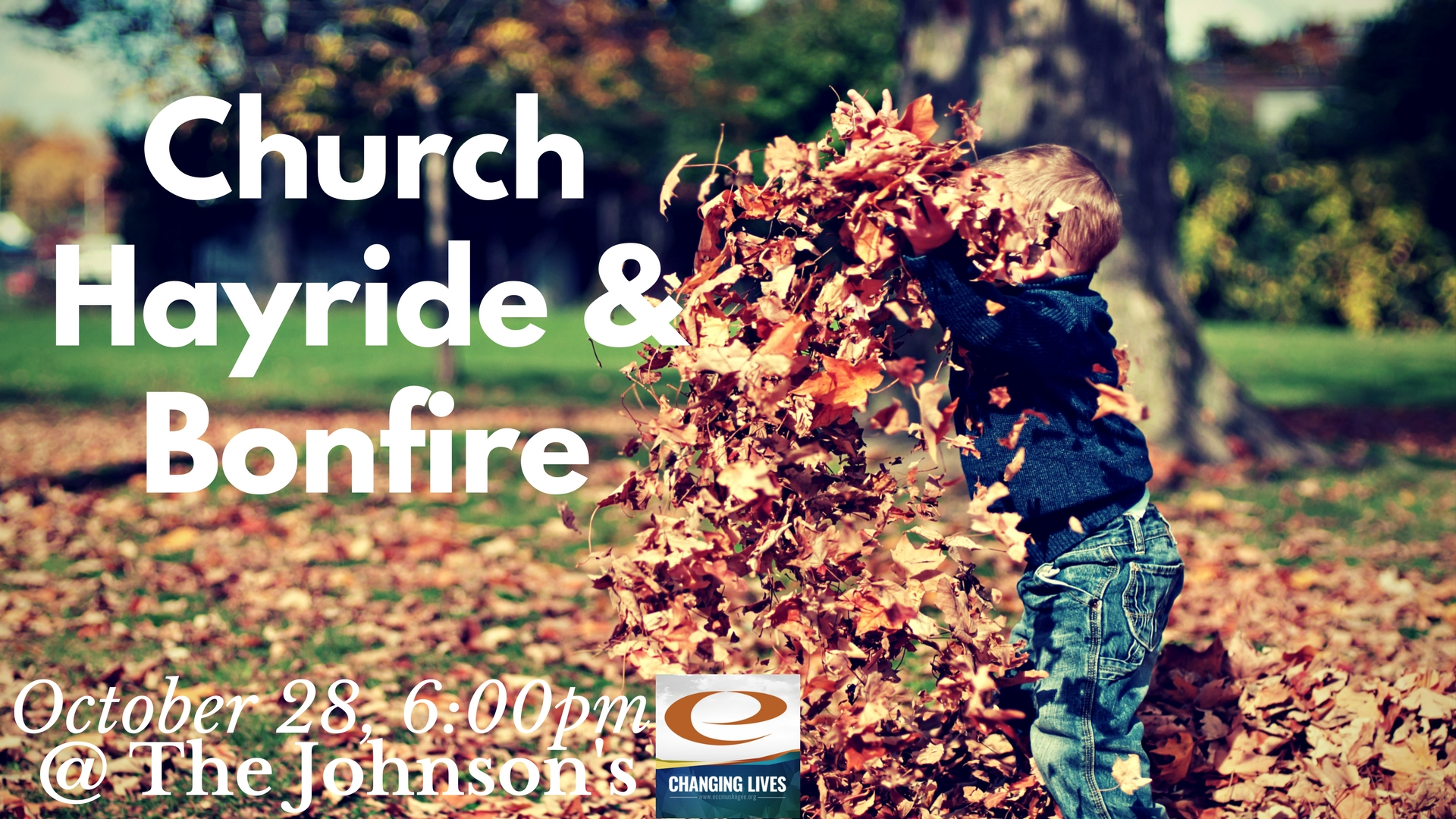 Church hayride   bonfire slide