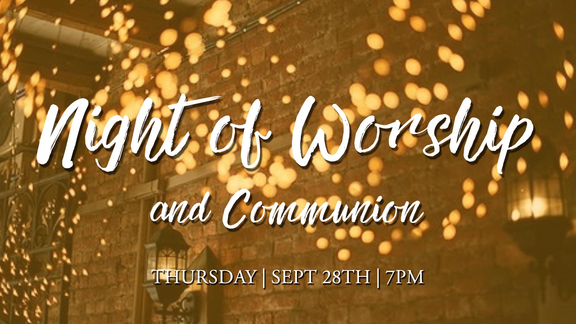 Night of worship sept 2017