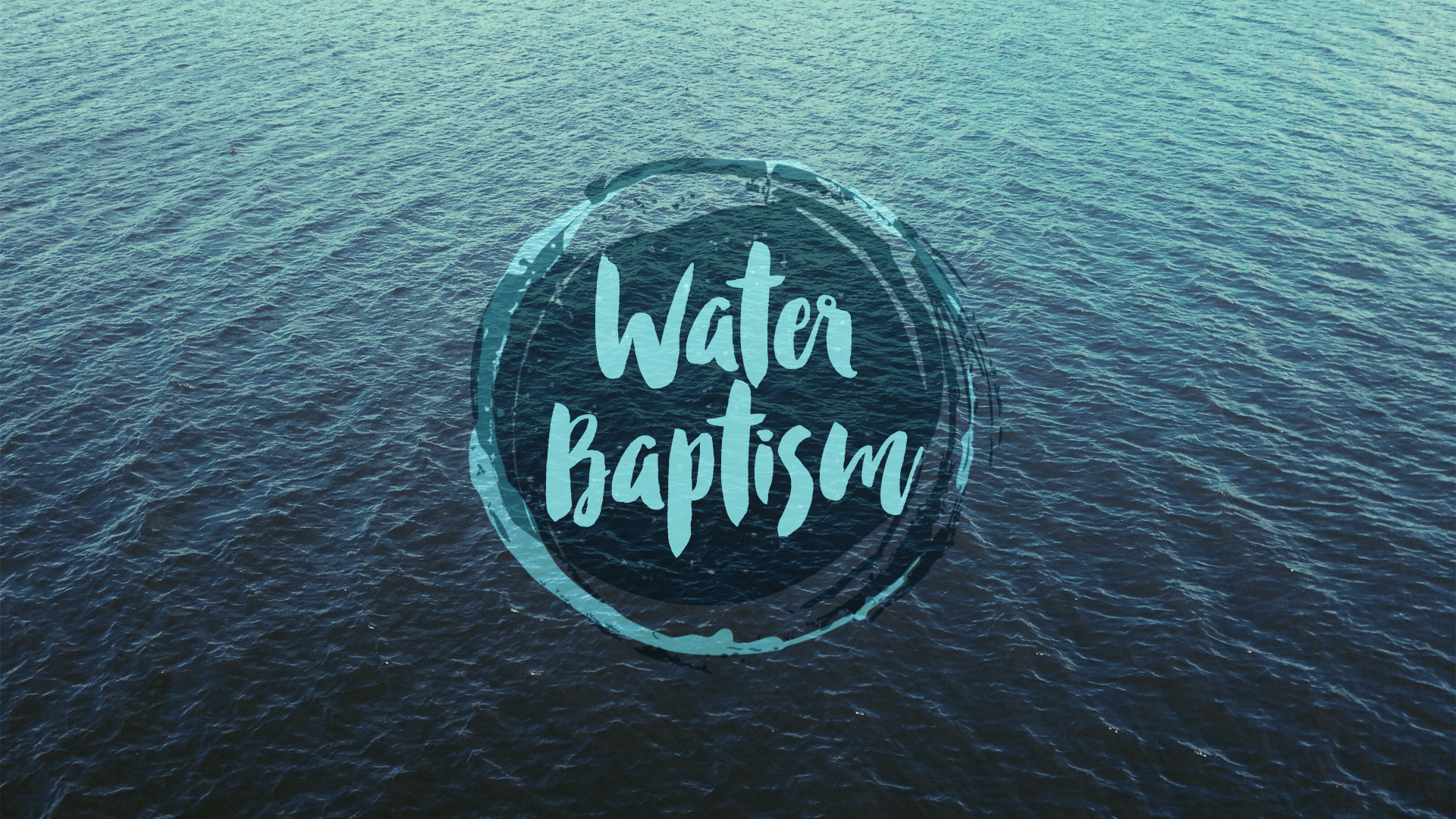 Water baptism graphic