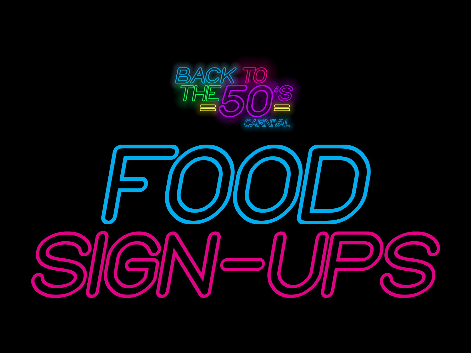 Back2the50s food sign ups