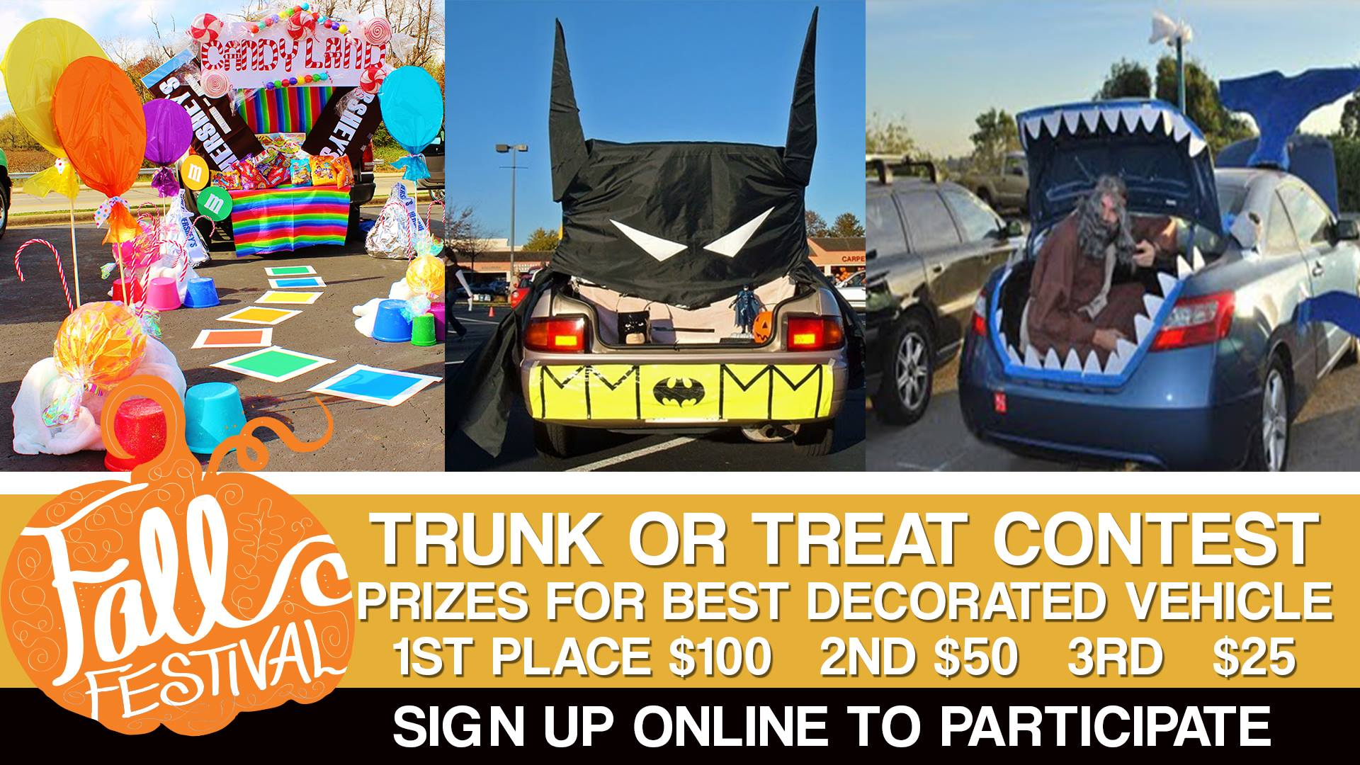Fall festival trunk or treat contest