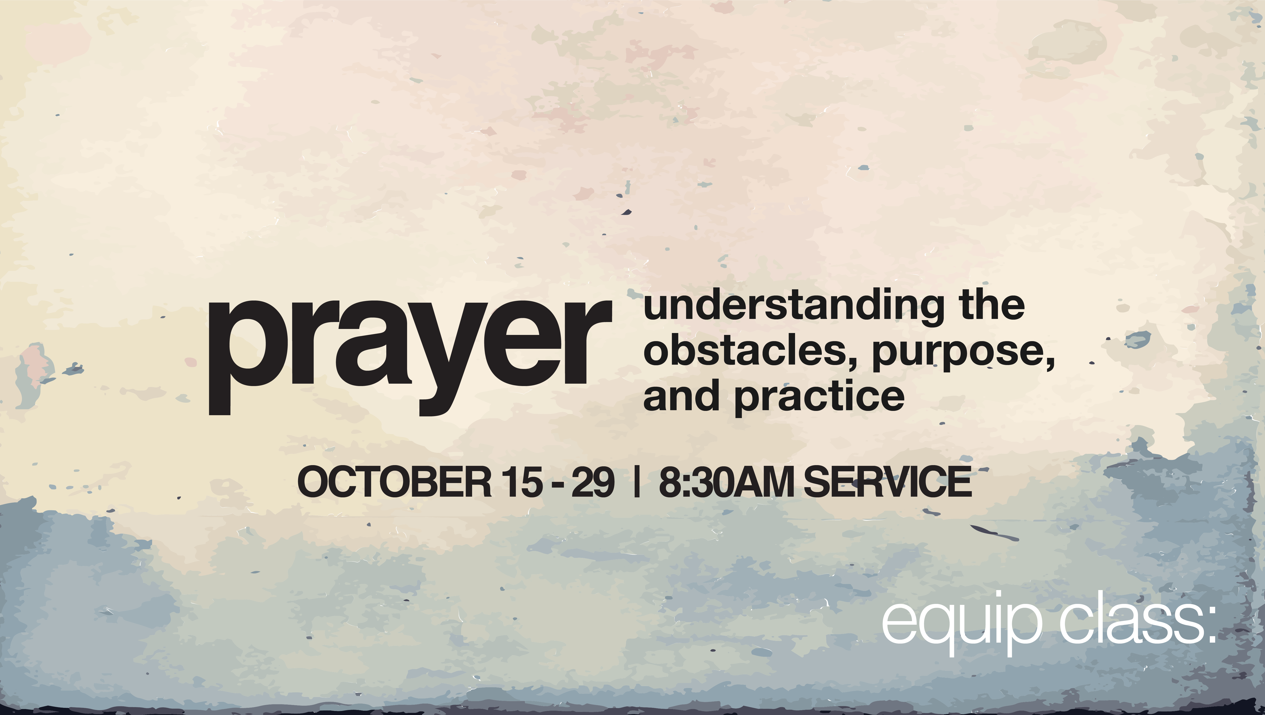 Prayer announcement