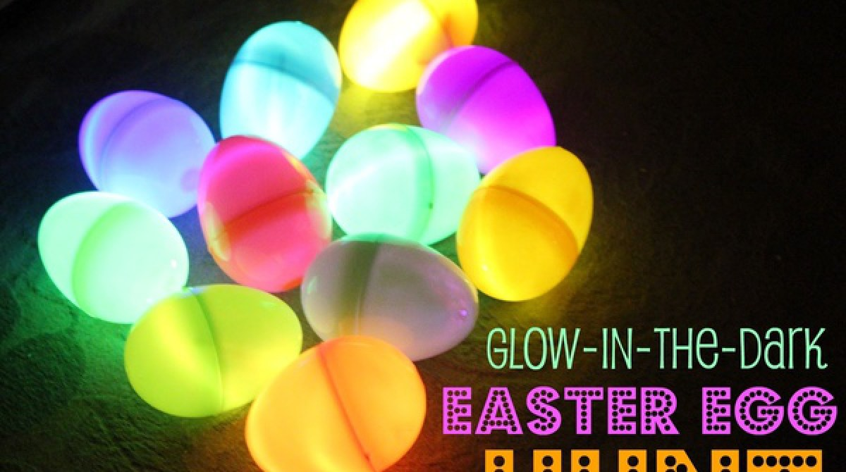 Glow in the dark egg hunt mommysavers