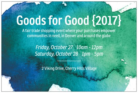 Goods for good 2017 graphic front