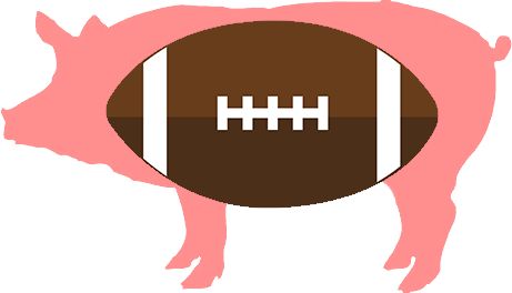 Pig and football