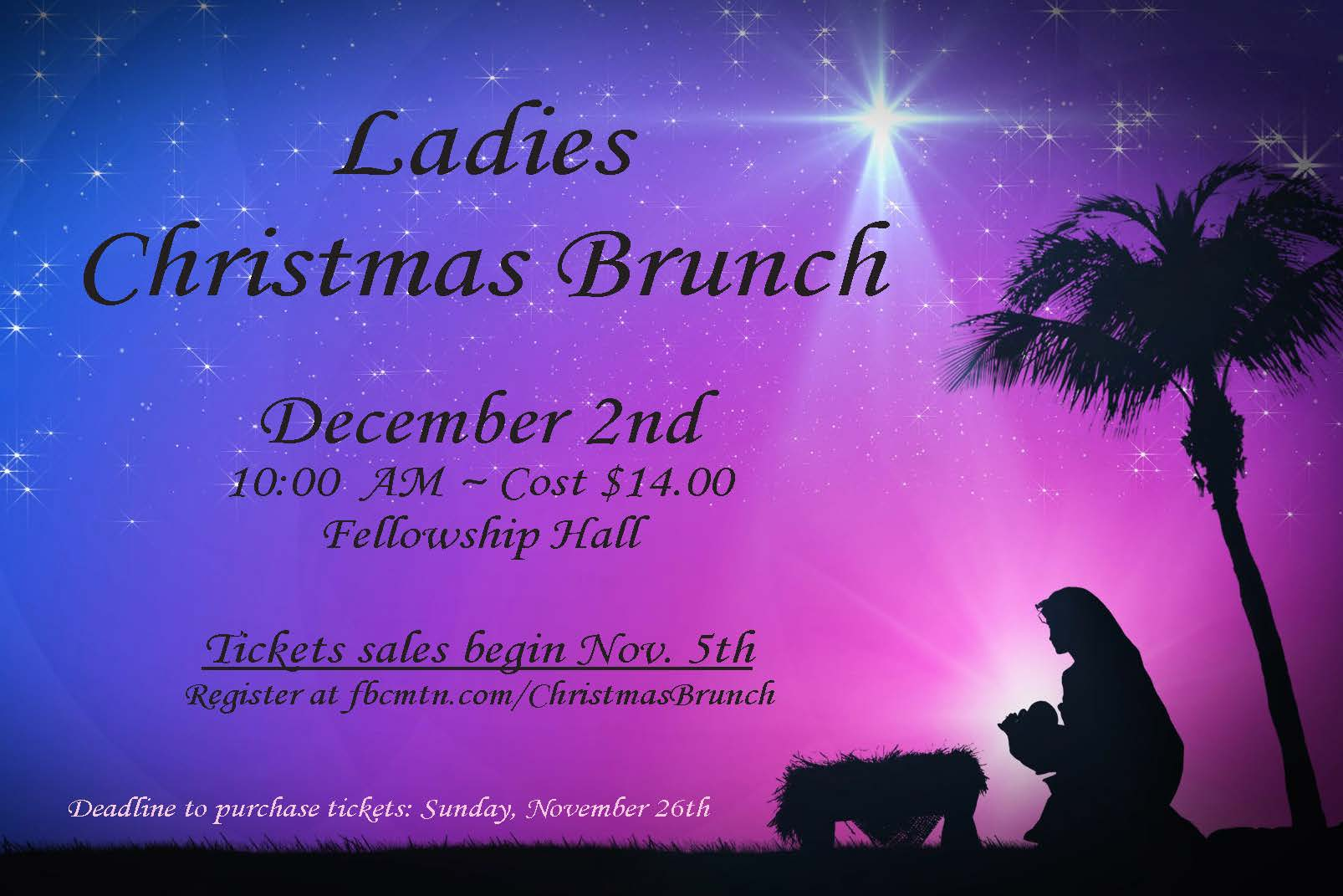 Ladies christmas brunch logo