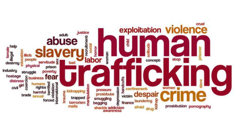 Human trafficking wordcloud