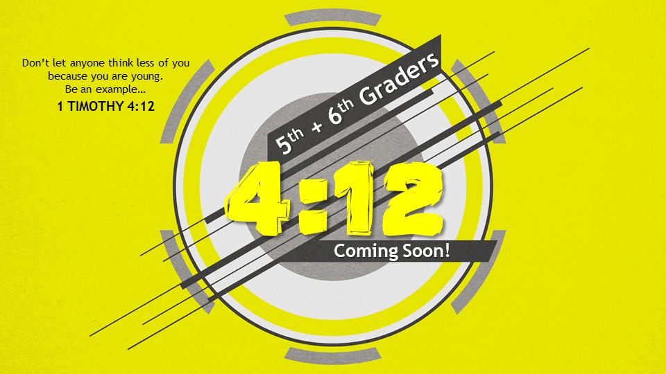 4 12 coming soon