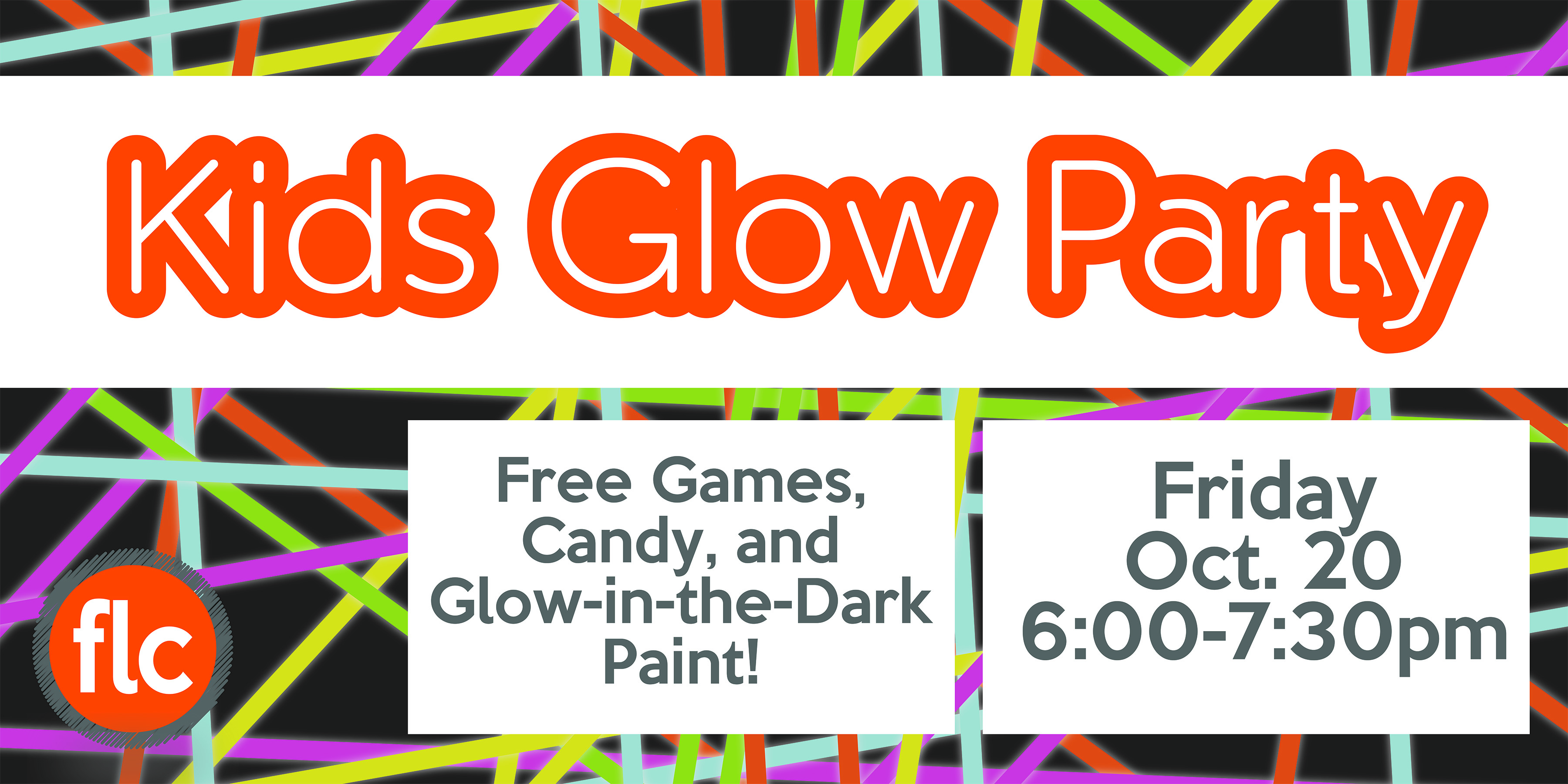 Glow in the dark party banner
