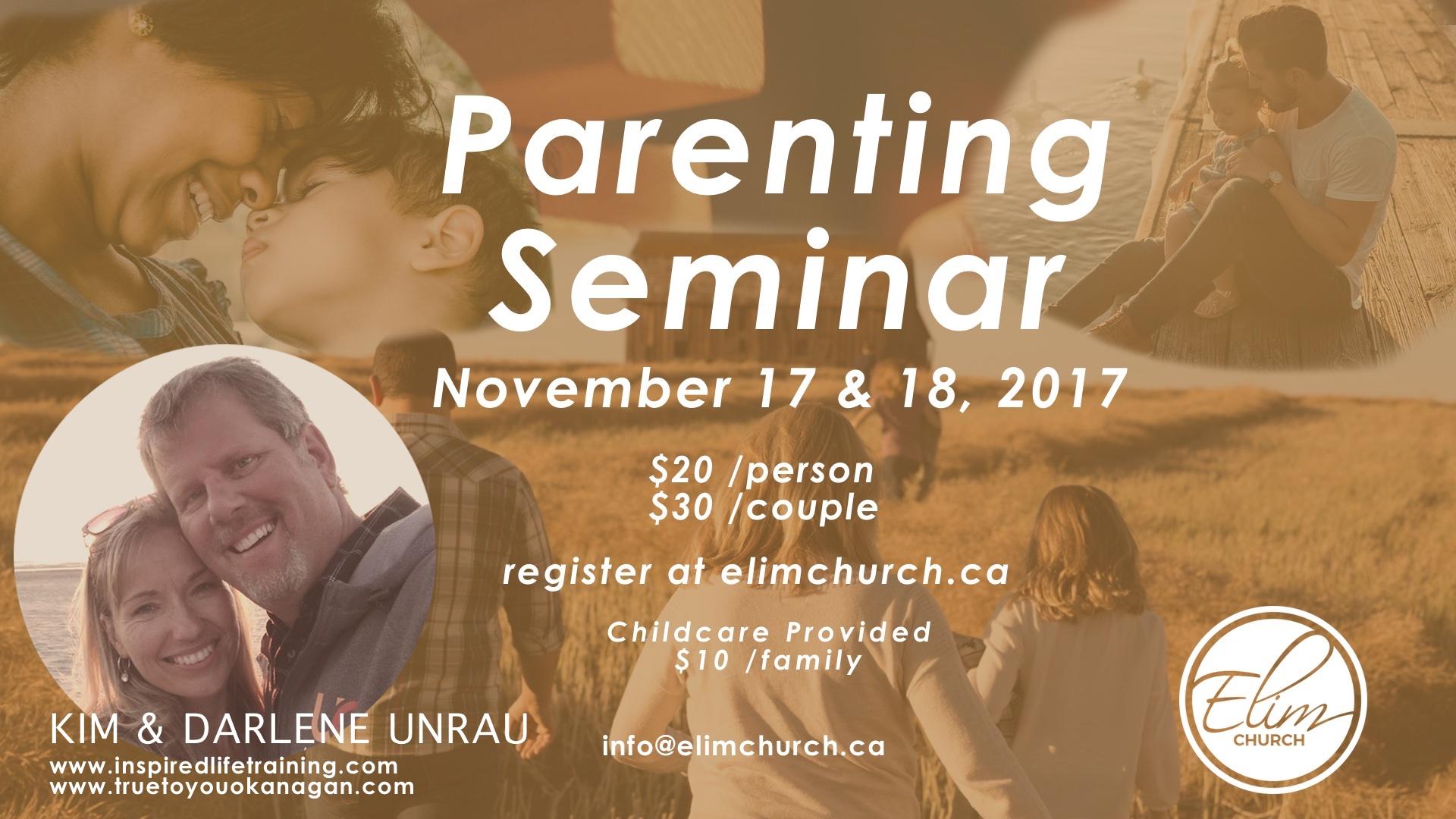 Parenting seminar slide site