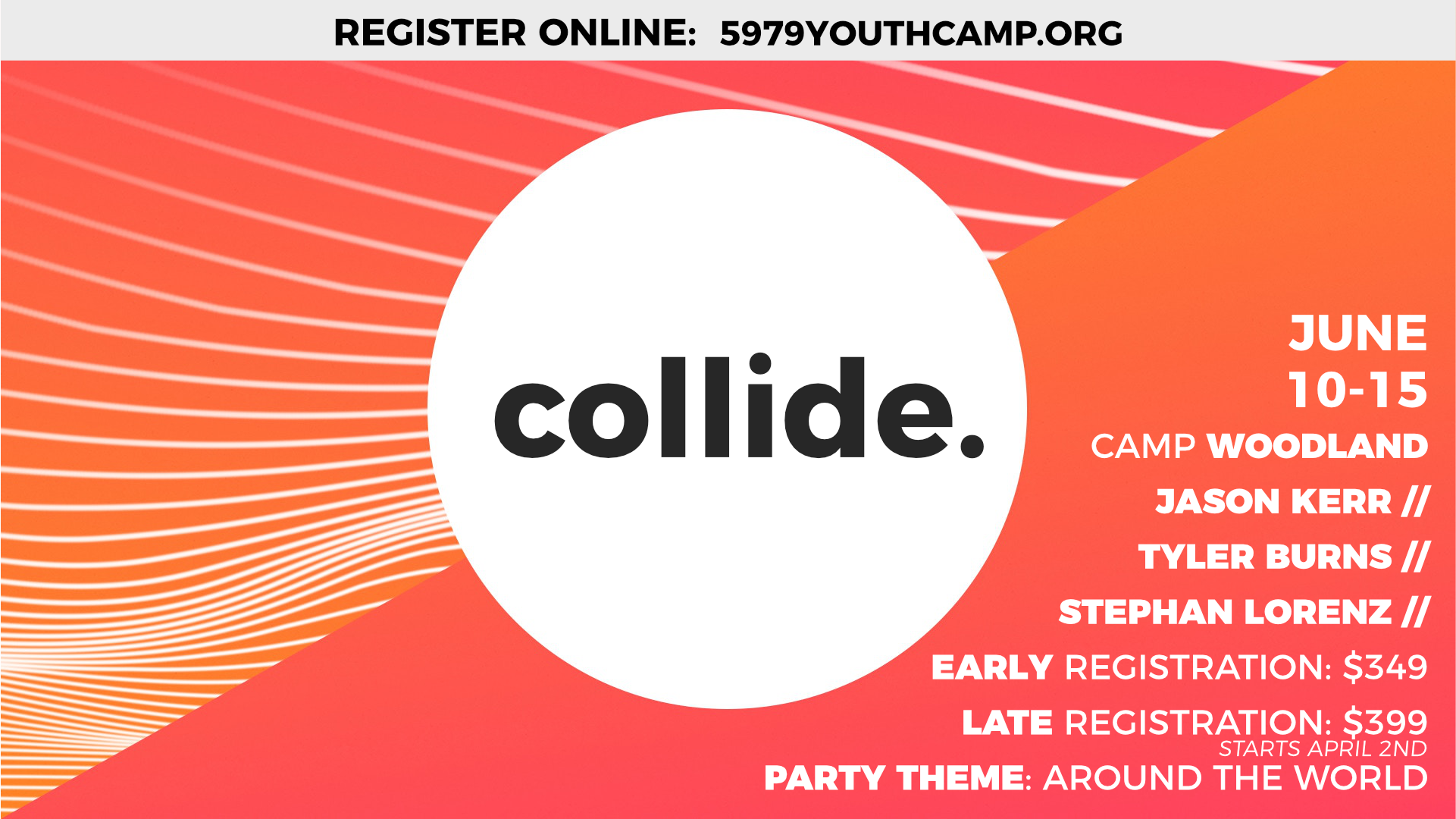 Camp collide announcement slide