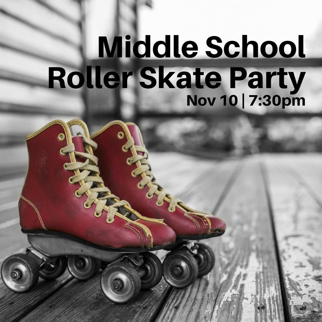 Middle school roller skate parrty