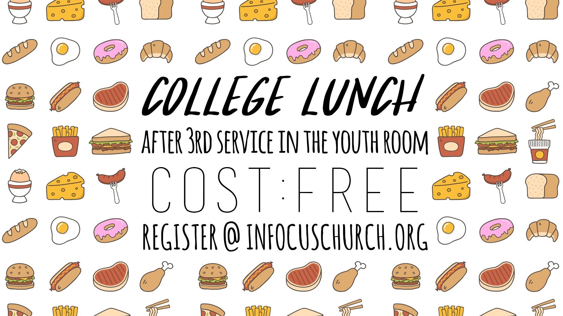 College lunch design