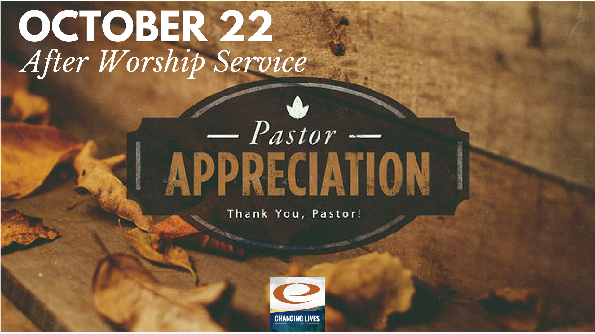 Pastor appreciation slide