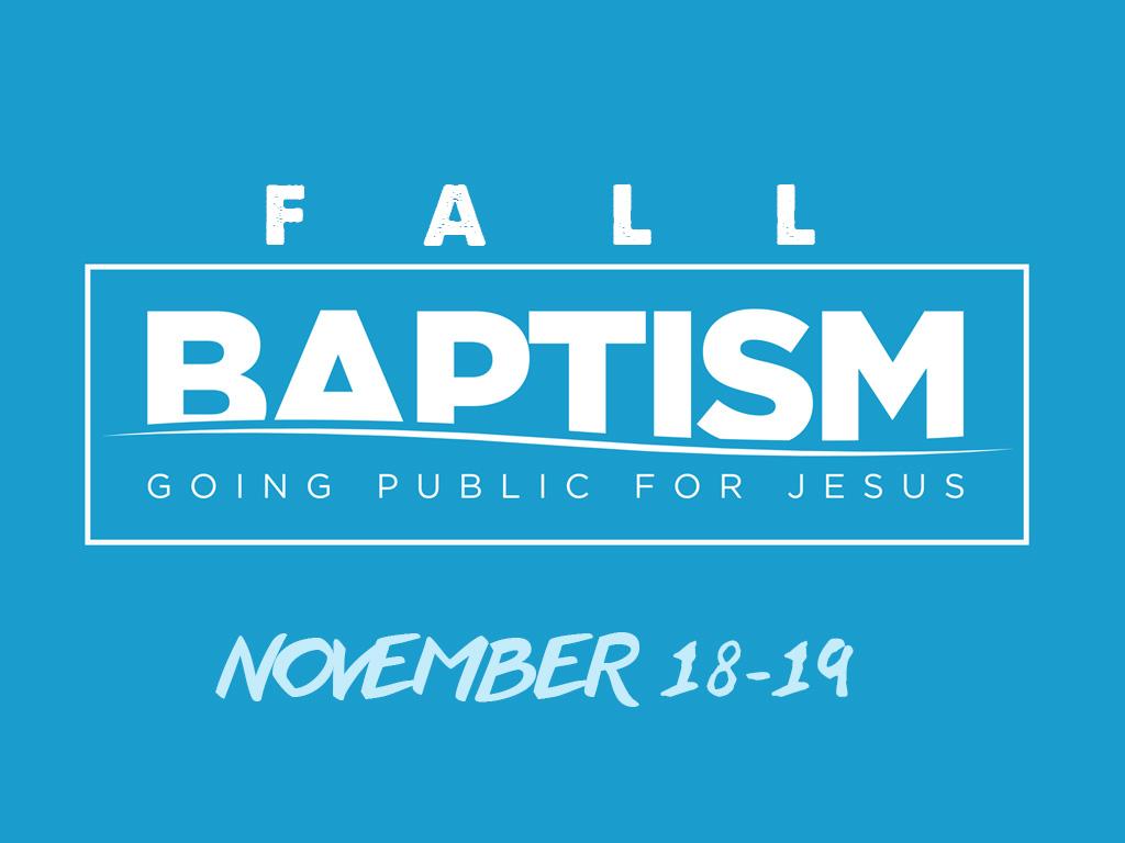 Fall baptism