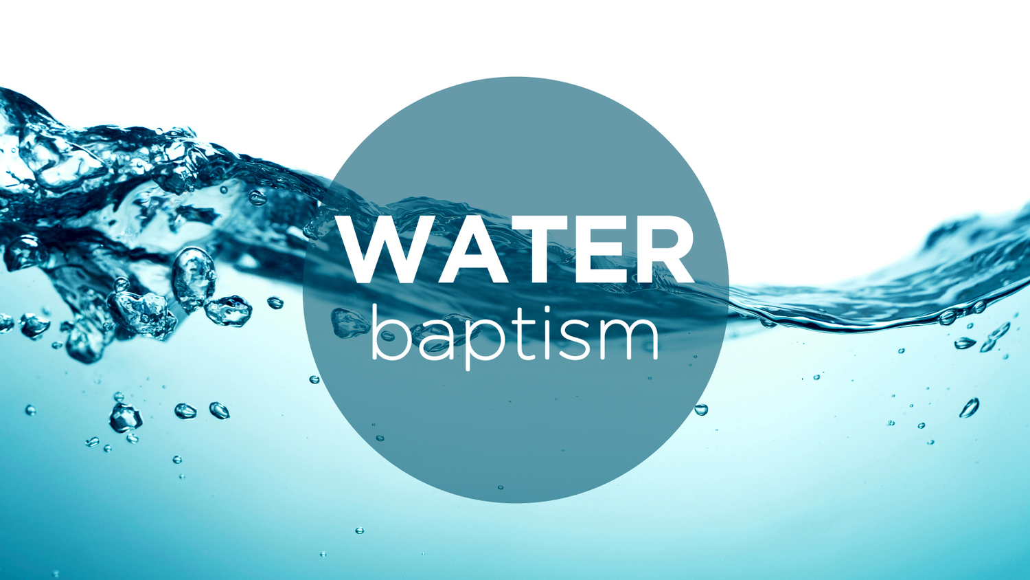 New water baptism banner