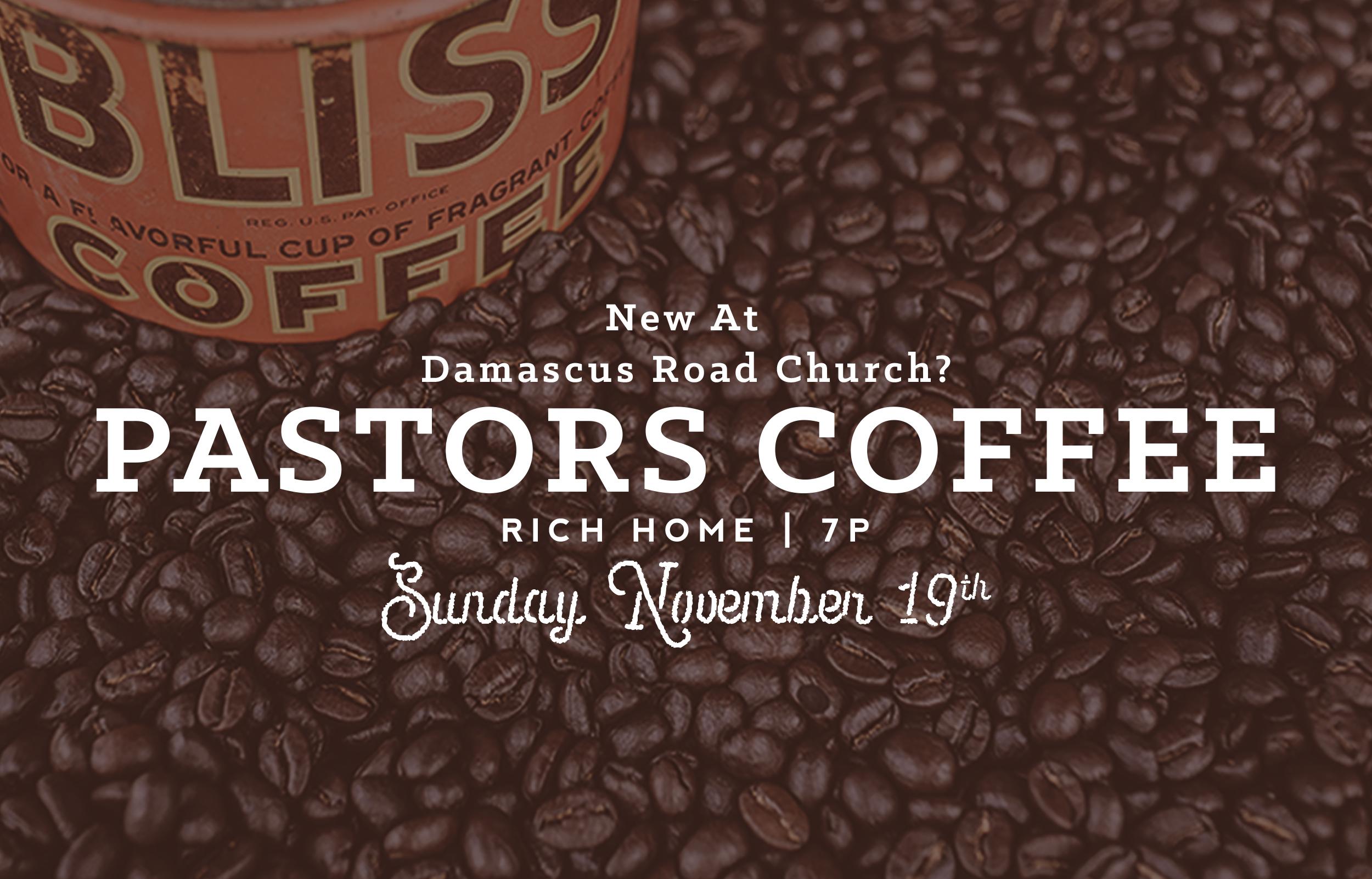 Pastors  coffee