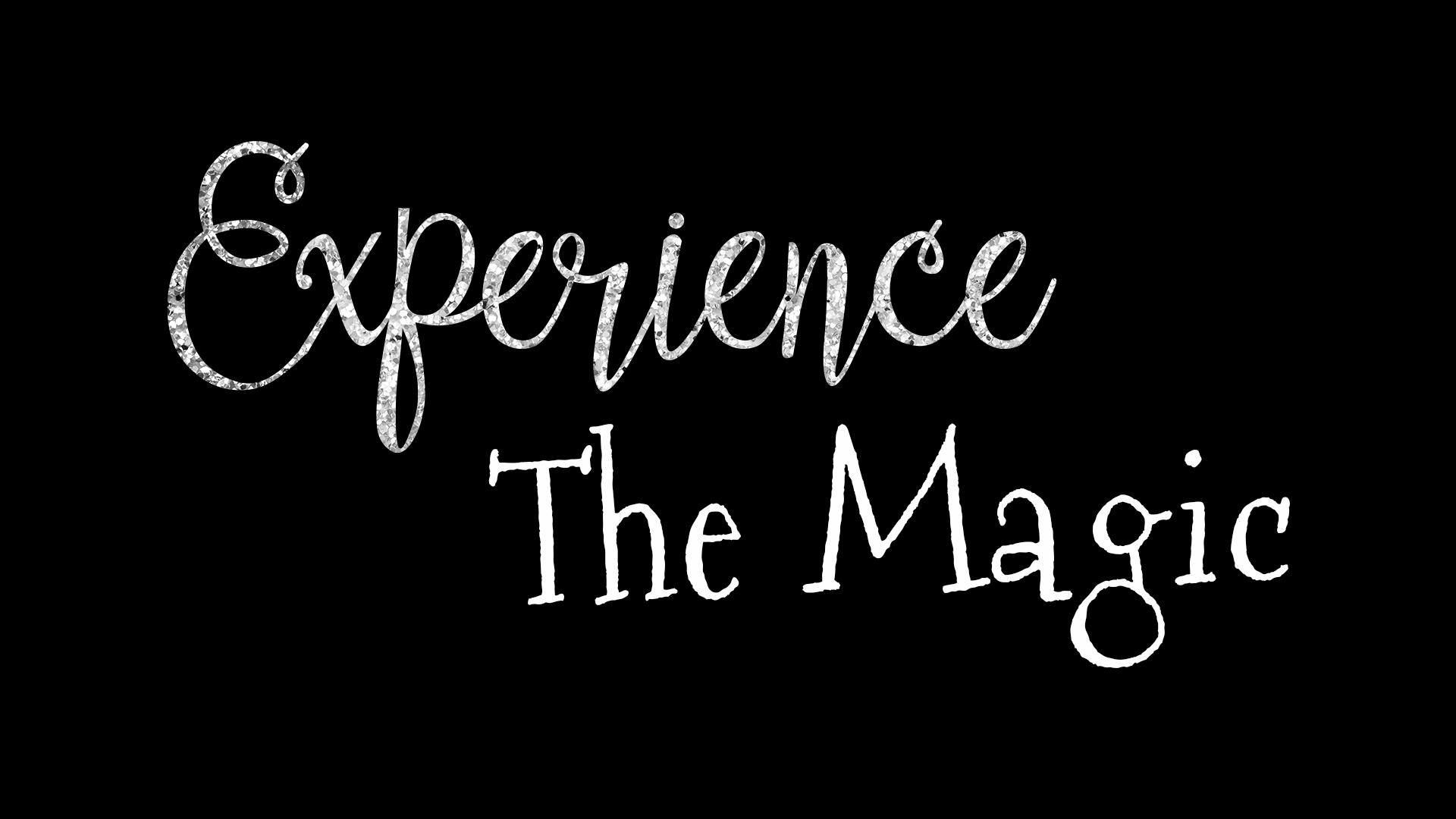 Experience the magic logoblack