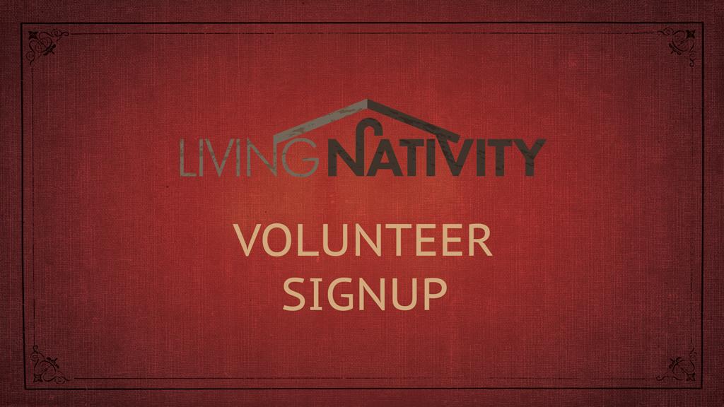 Nativity volunteer slide