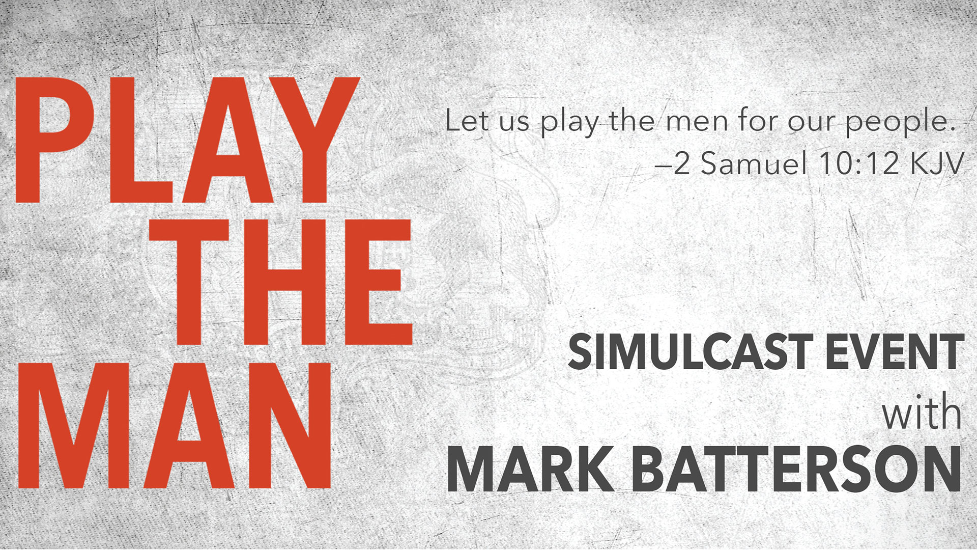 Play the man wide