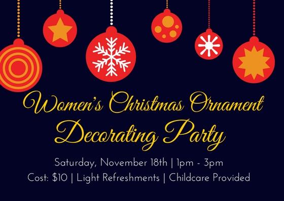 Xmas ornament party