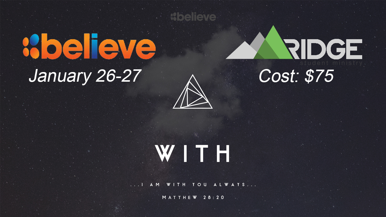 Believe slide for tv
