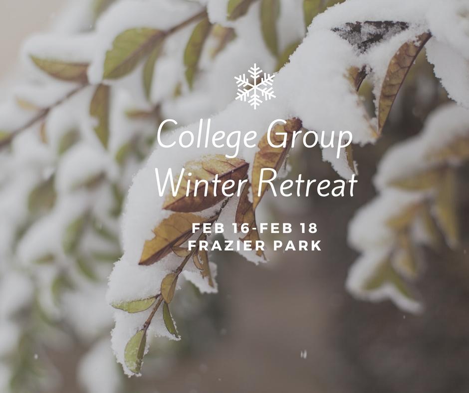 College group winter retreat 2018
