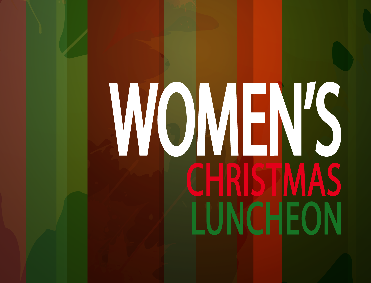 Womens christmas luncheon