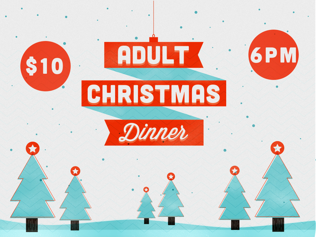 Adult christmas dinner registrationsgraphic