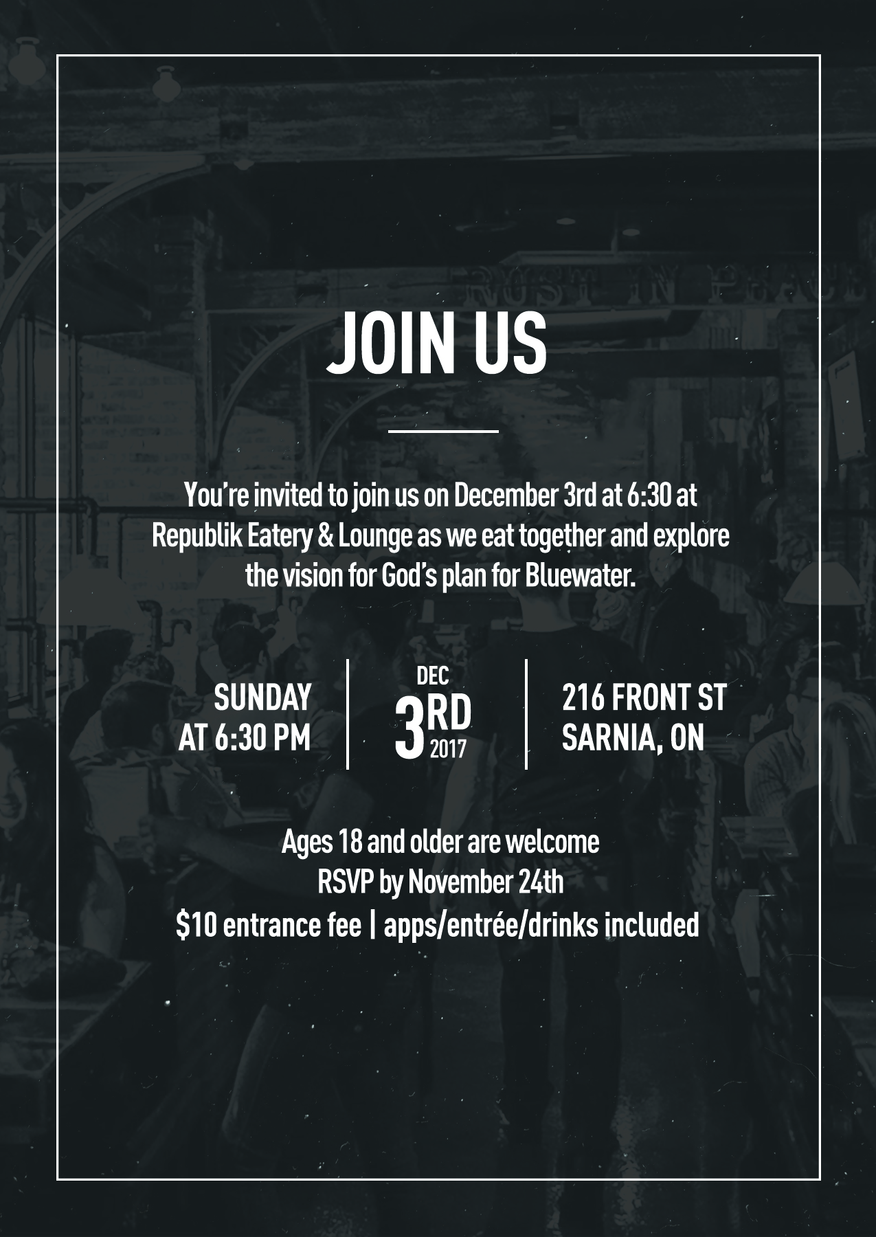 Bluewater event invite  overlay
