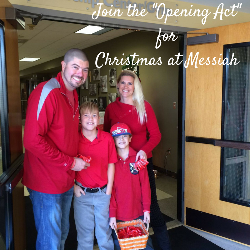Join the  opening act  for christmas at messiah