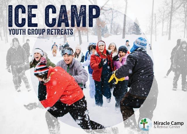 Ice camp postcard
