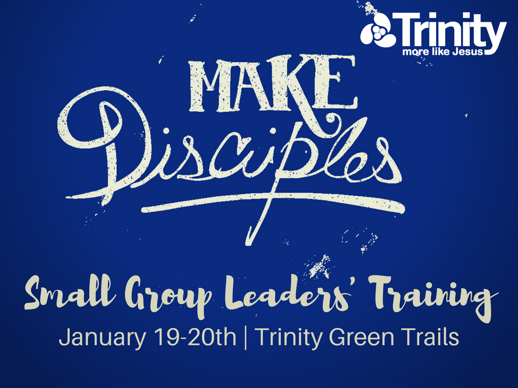 Spring small group leaders  training 2