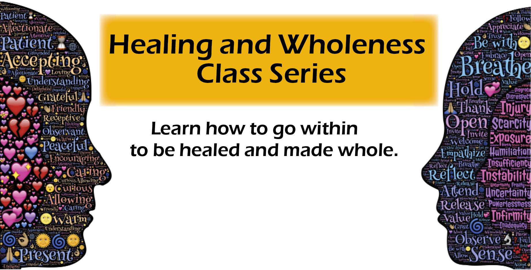 Healing wholeness banner ad