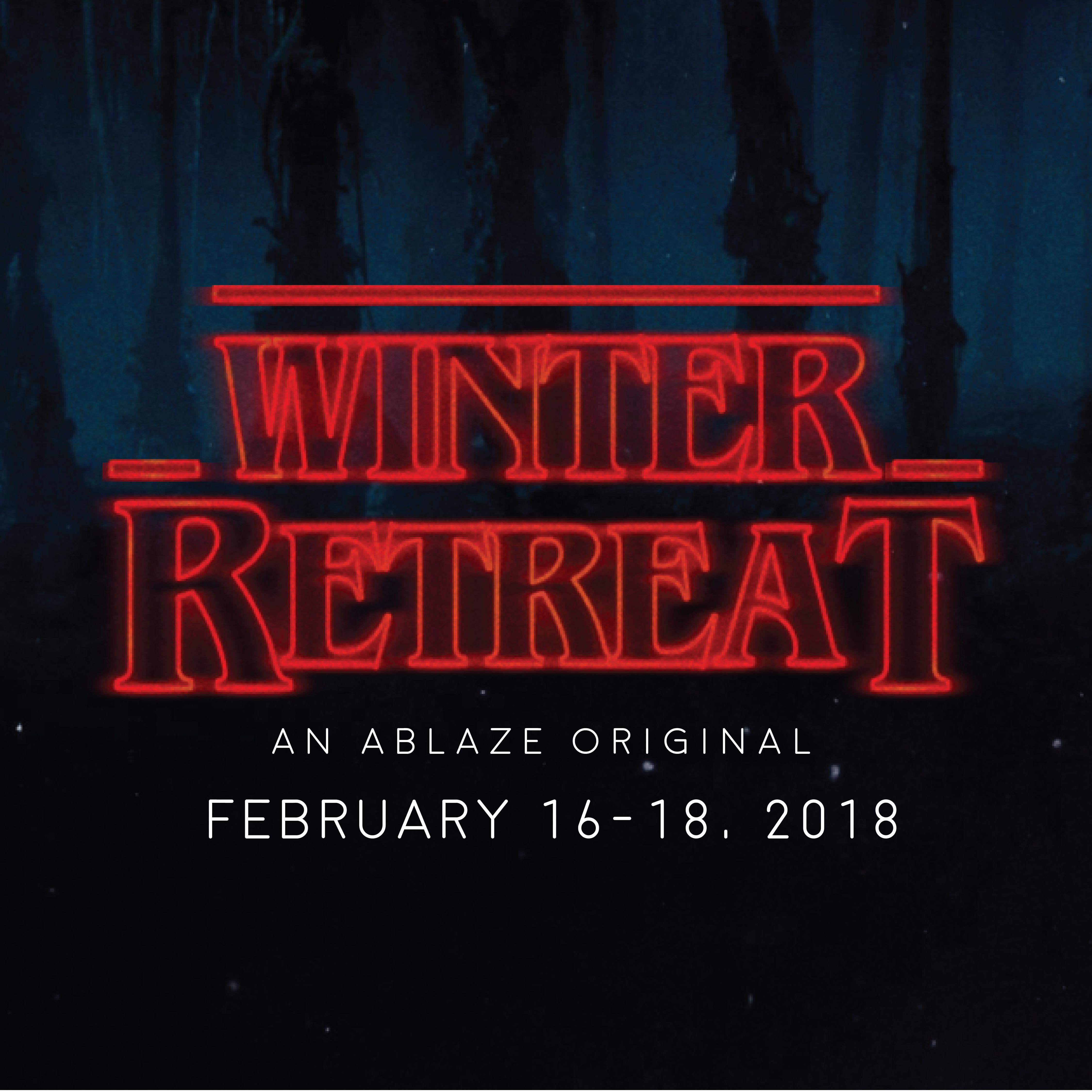Ablaze logos winter retreat