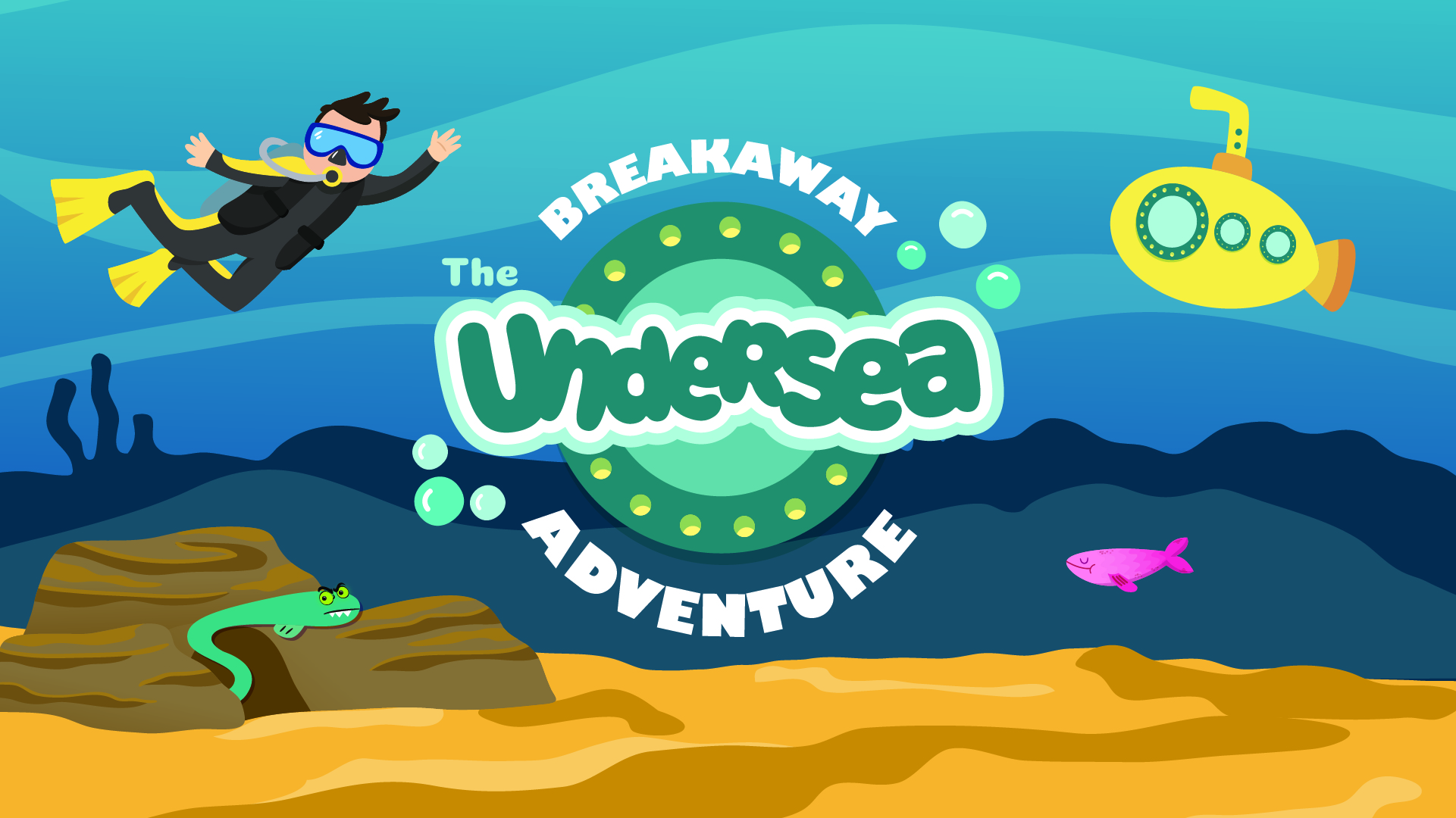 Breakaway the undersea adventure logo wbackground final pco event cover