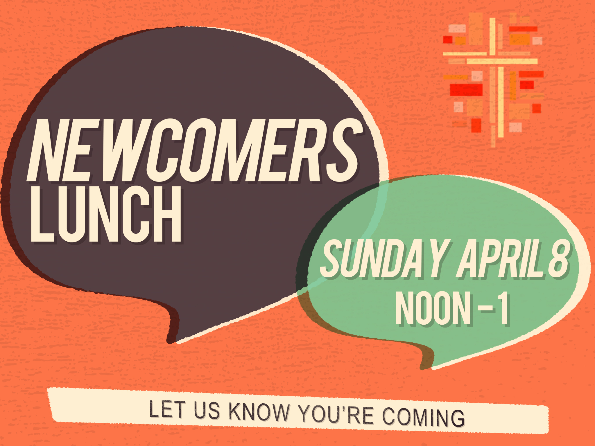 Newcomers lunch   april 8