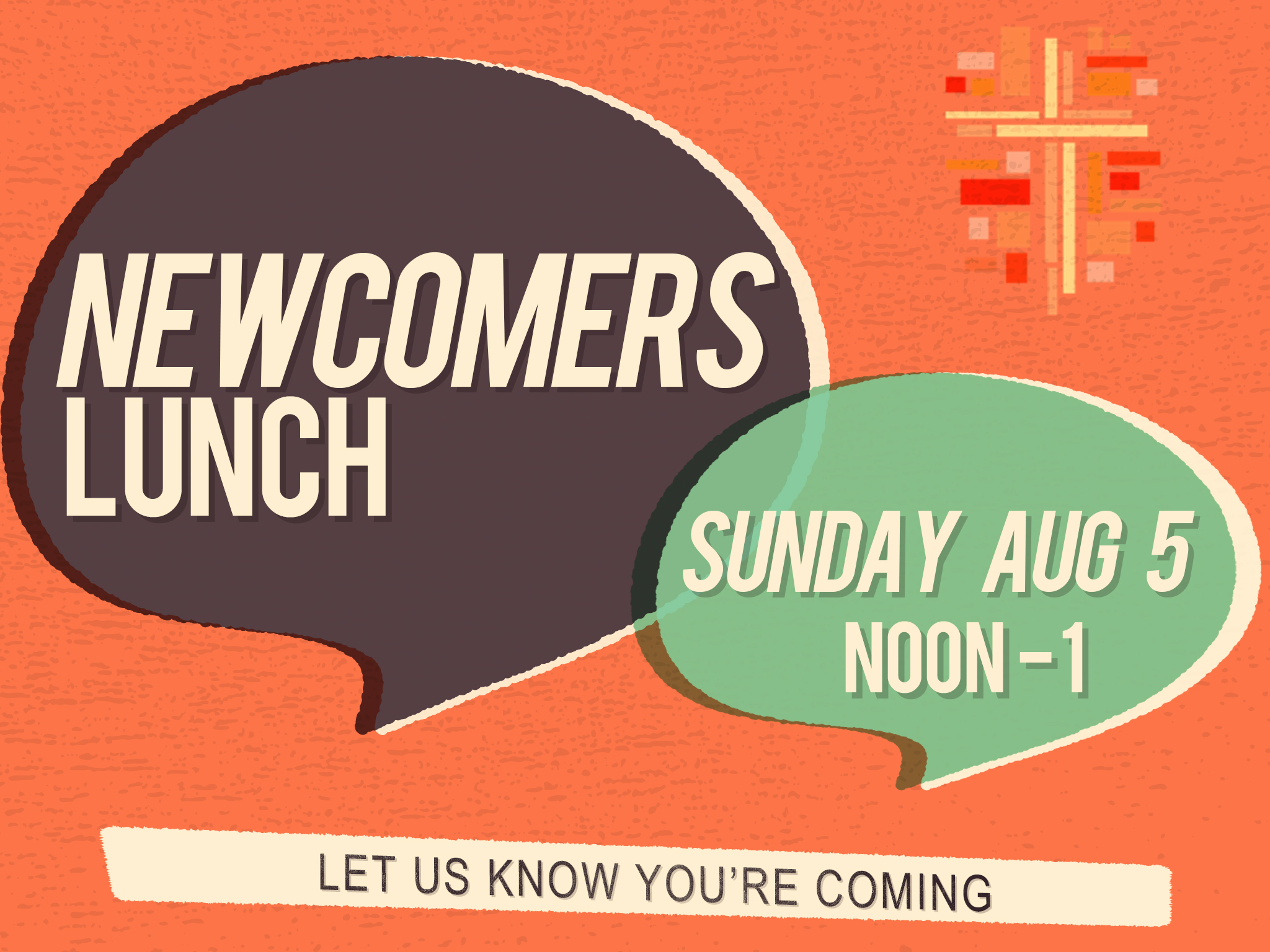Newcomers lunch   august 5