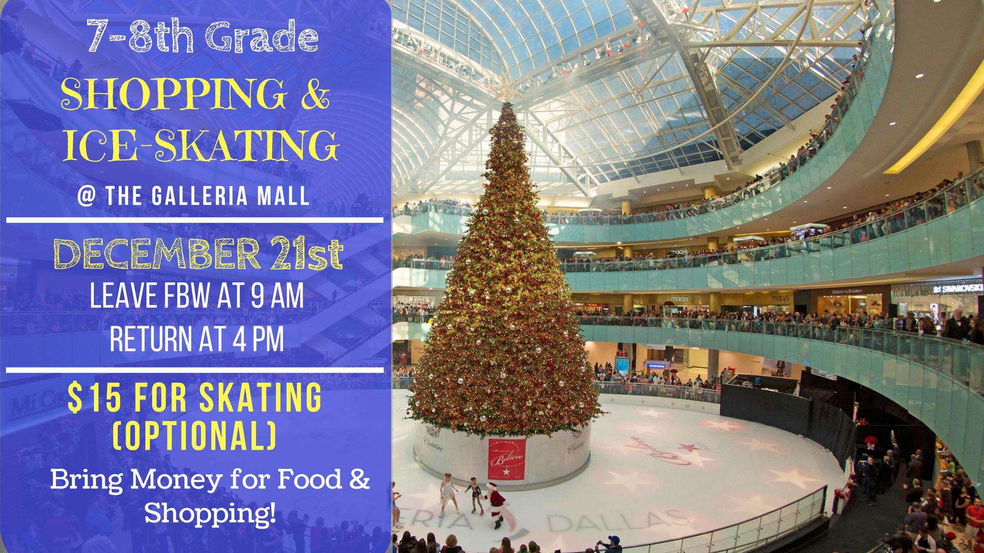 Shopping   ice skating