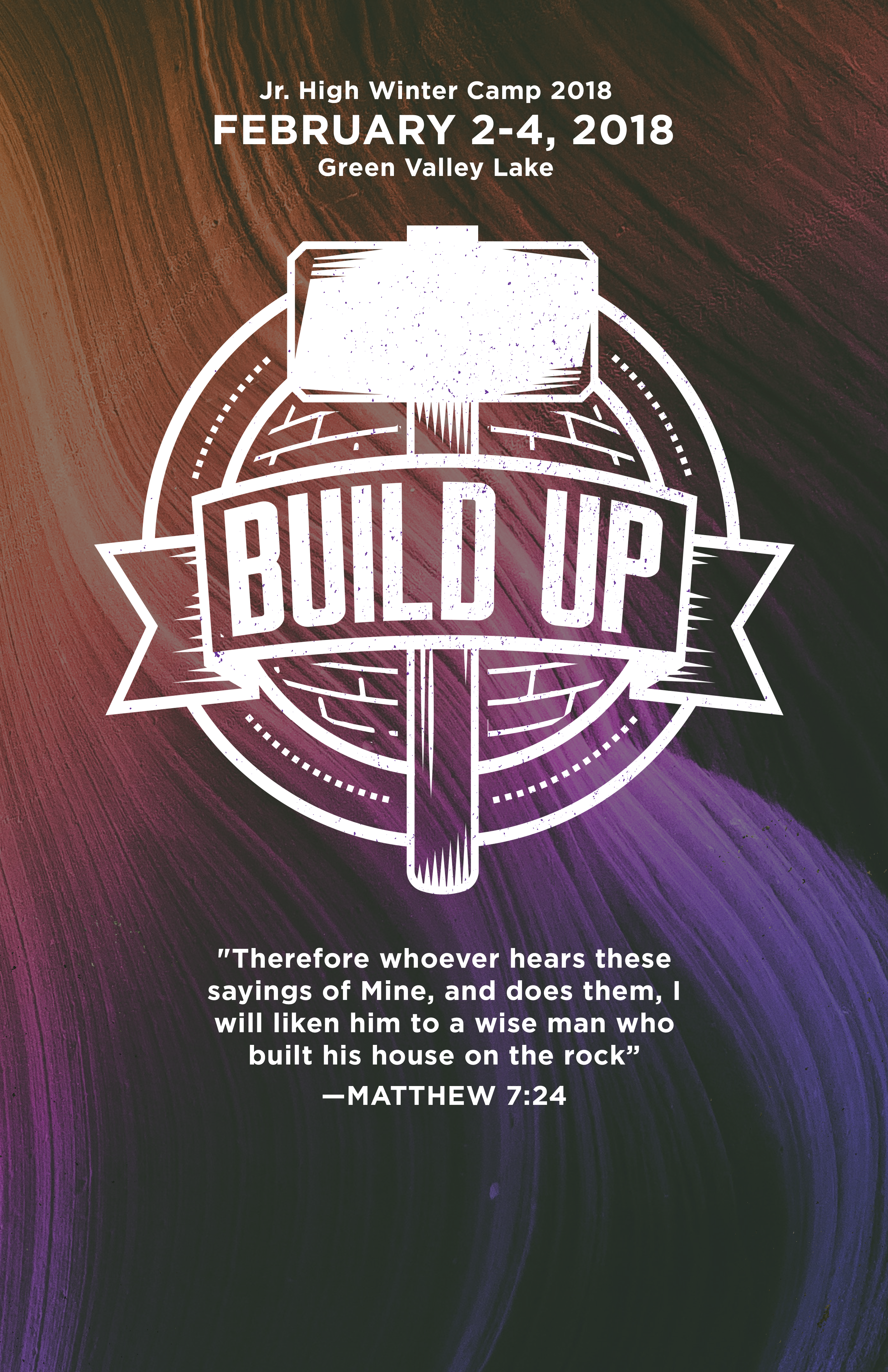 Build up poster blank logo