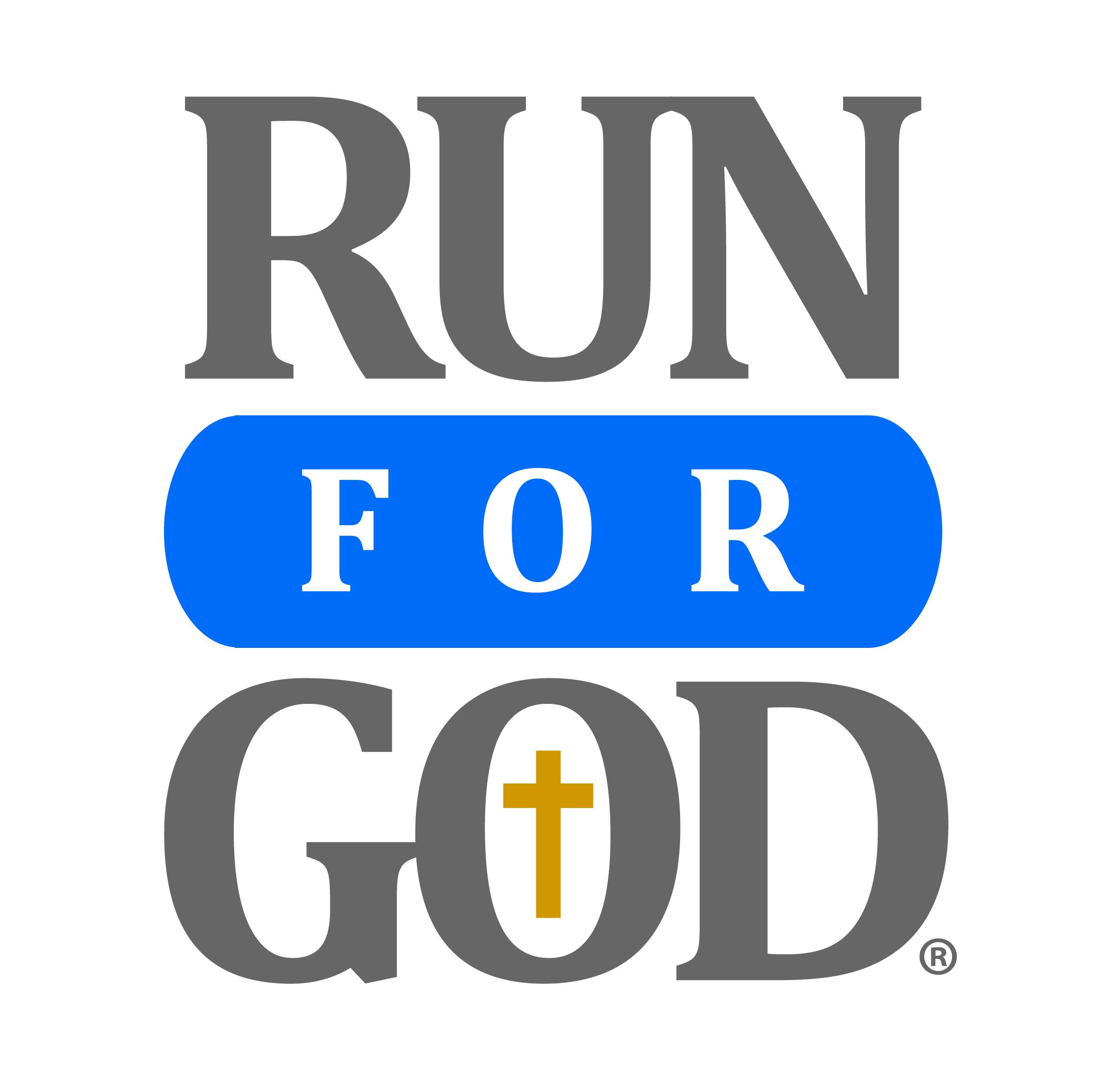 Run for god logo