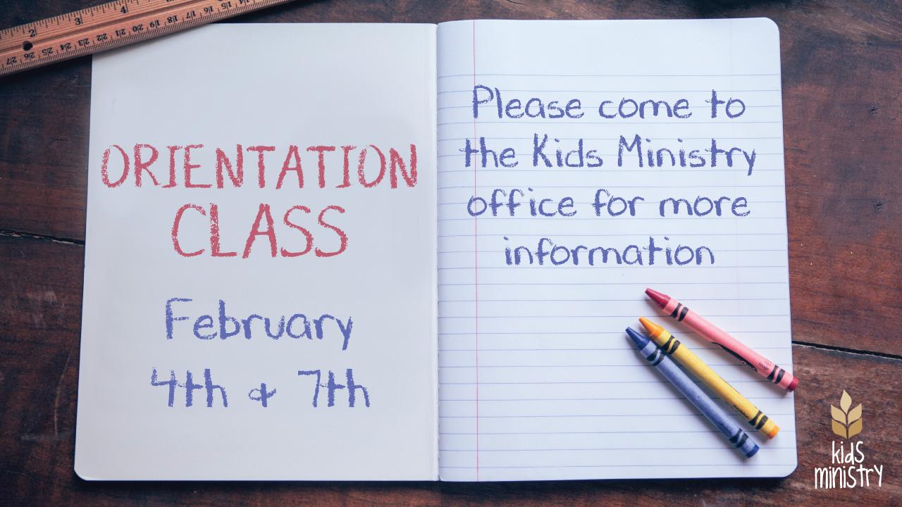 Orientation class  video bulletin